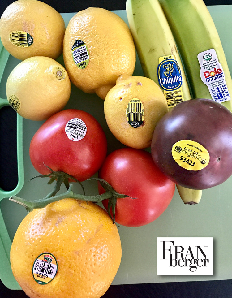 Reading PLU Labels on Fruits and Veggies